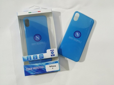 Cover Iphone X azzurra classica ssc napoli
