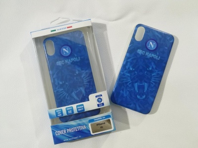 Cover Iphone XS azzurra puma ssc napoli