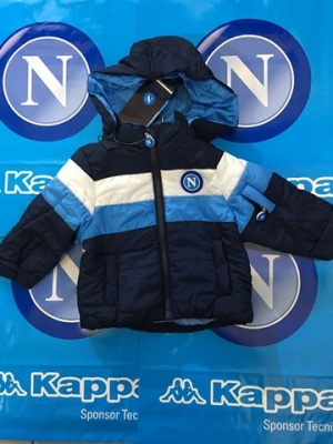 GIUBBOTTO IN NYLON KID BLU SSC NAPOLI