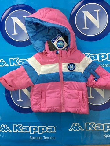 GIUBBOTTO IN NYLON ROSA KID SSC NAPOLI