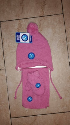 SET CAPPELLO SCIARPA GUANTI INFANT SSC NAPOLI